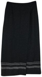 Eddie Bauer Maxi Skirt Dark Gray, Black