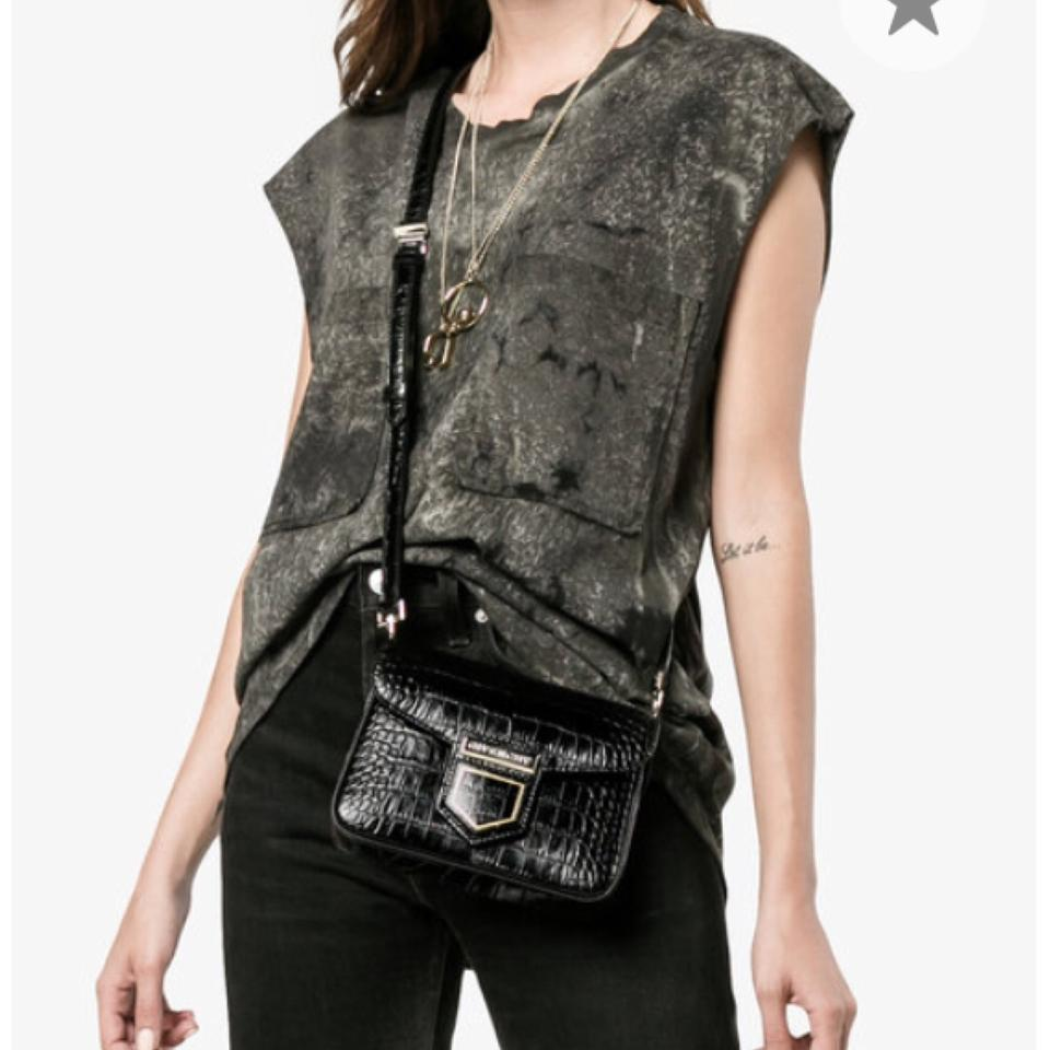 de1dc94f58 Givenchy Nobile Mini Croc Embossed Shoulder Black Crocodile Skin ...