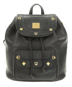 MCM Leather Studded Stark Palm Spring Montsouris Backpack