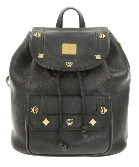MCM Leather Studded Stark Palm Spring Montsouris Backpack Image 0