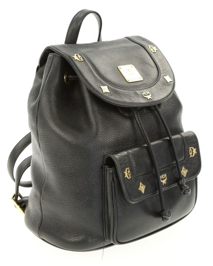 MCM Leather Studded Stark Palm Spring Montsouris Backpack Image 1