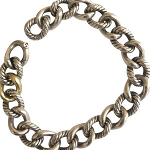 David Yurman Link bracelet with gold and silver