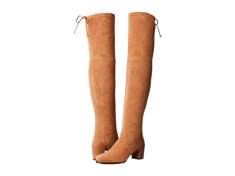 cb2a0971a0c Stuart Weitzman Beige New Hinterland Toffee Suede Over The Knee Boots  Booties