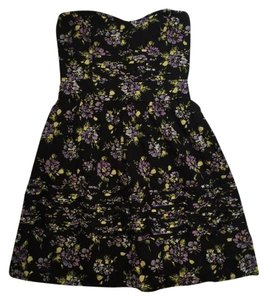 Kimchi Blue short dress Black, Yellow, Purple on Tradesy
