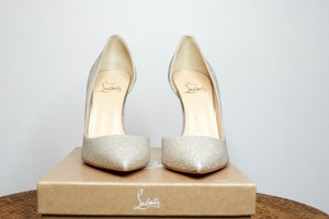 Christian Louboutin Glitter Silver Specchio Formal Size US 9.5 Regular (M, B)