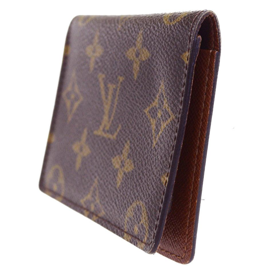 5934f34694f Louis Vuitton Vertical Bifold Pass Card Case Monogram Brown M60533 Men  Wallet 72% off retail