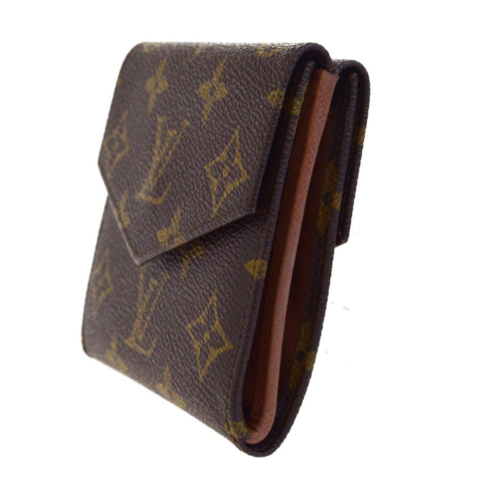 promo code bf113 e5d7e Louis Vuitton Vertical Bifold Pass Card Case Monogram Brown M60533 Men  Wallet 63% off retail