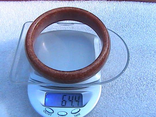 Other Brown Red Jade Bangle Size 7