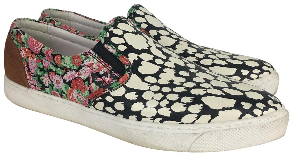 30a583ab3 Coach White Floral Leopard Print Sneakers Size US 10 Regular (M, B ...
