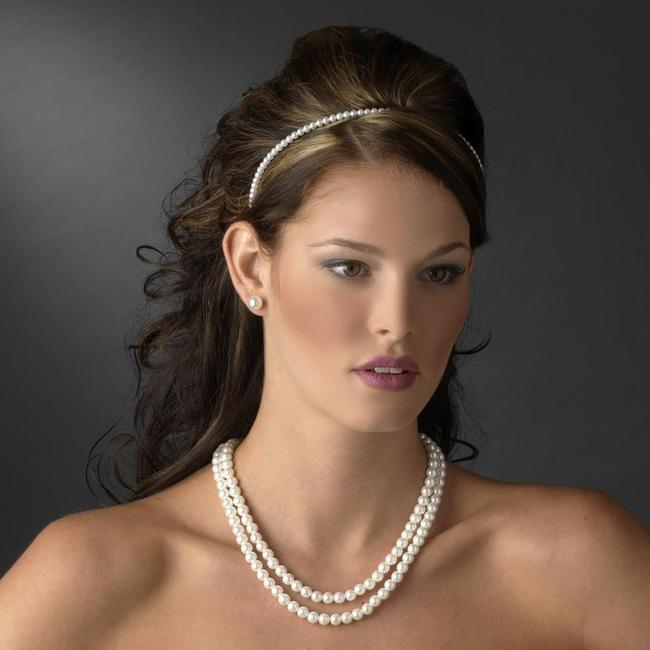 Item - Silver White ( 5 Sets ) Pearl Bridesmaids Jewelry Set