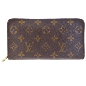 Louis Vuitton LOUIS VUITTON Long Zip Bifold Wallet Purse Monogram Brown M61727