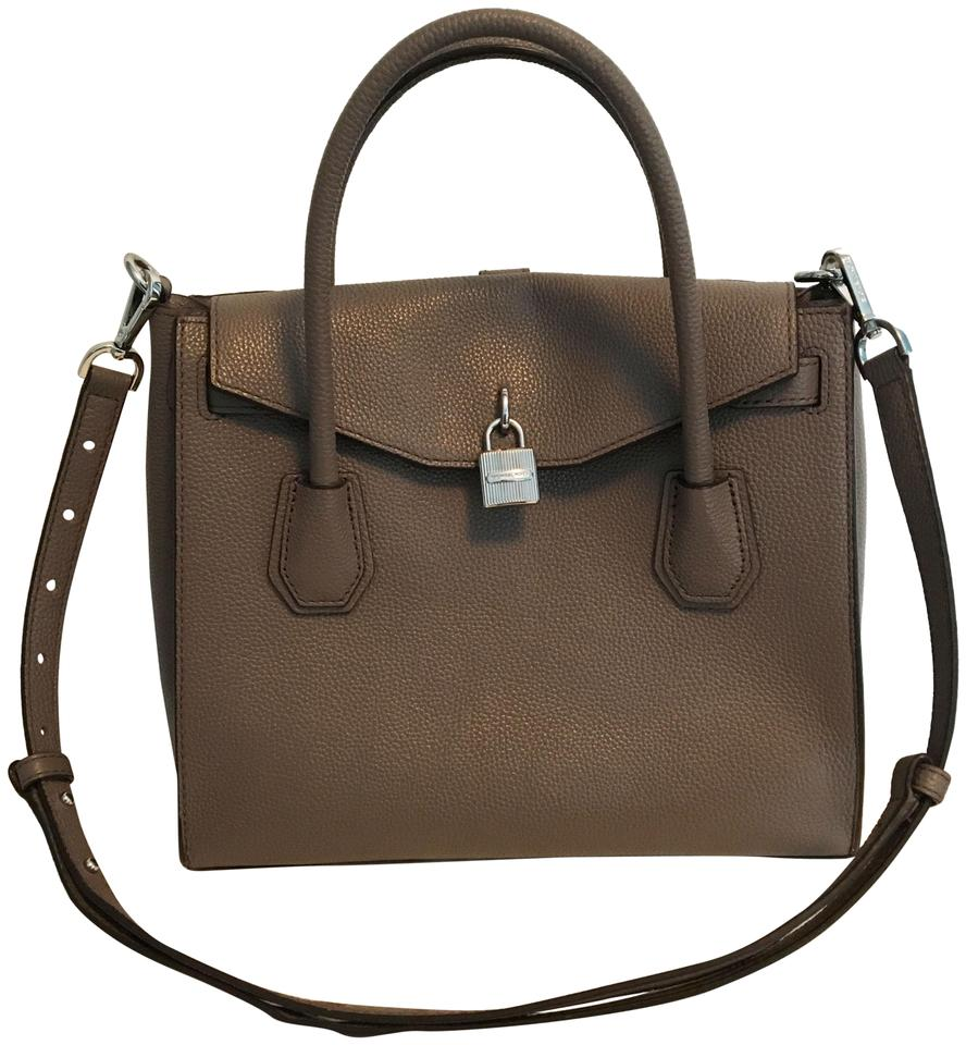 e23e9e423b47 Michael Kors Leather All In One Luggage Satchel in Cinder Image 0 ...