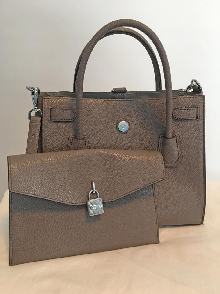 68b2157ab50e Michael Kors Leather All In One Luggage Satchel in Cinder Image 7. 12345678