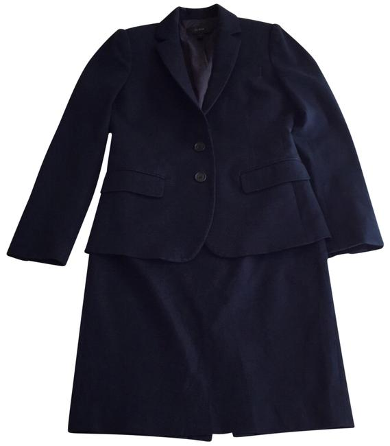 Item - Blue Navy Blazer and Pencil In Bi Stretch Cotton Skirt Suit Size 2 (XS)