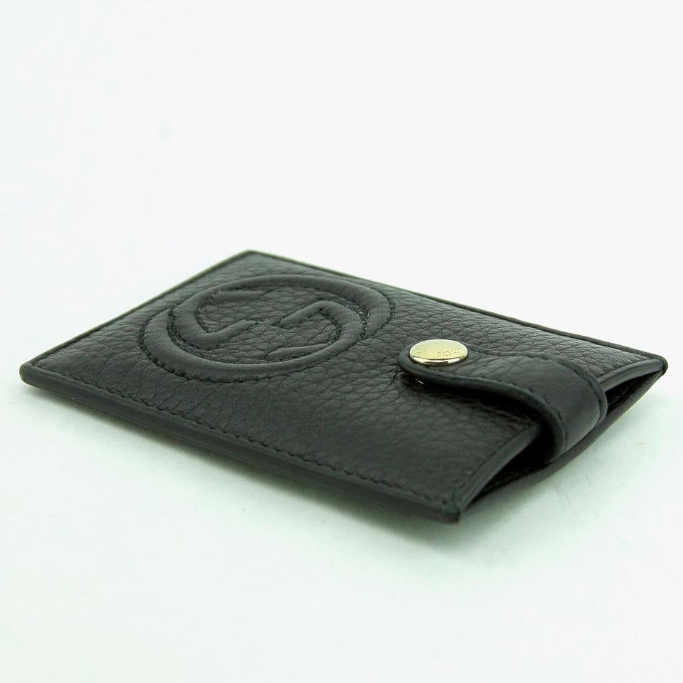 Gucci Black Leather Interlocking G Credit Card Holder - Tradesy