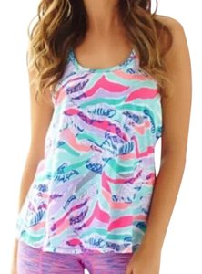 Lilly Pulitzer Luxletic Tank Sandstripes Size Small