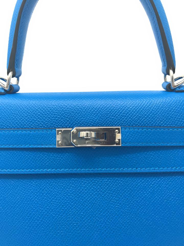 Blue Hardware Sellier Kelly Zanzibar 25cm Leather Hermès Satchel Palladium dwIqRX