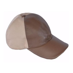 Gucci Gucci Baseball Cap Canvas and Brown Leather 337798