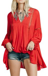Free People short dress Longsleeve Cut-out V-neck Tunic on Tradesy