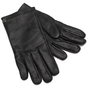 Gucci Gucci Riding Gloves Black Leather 353750
