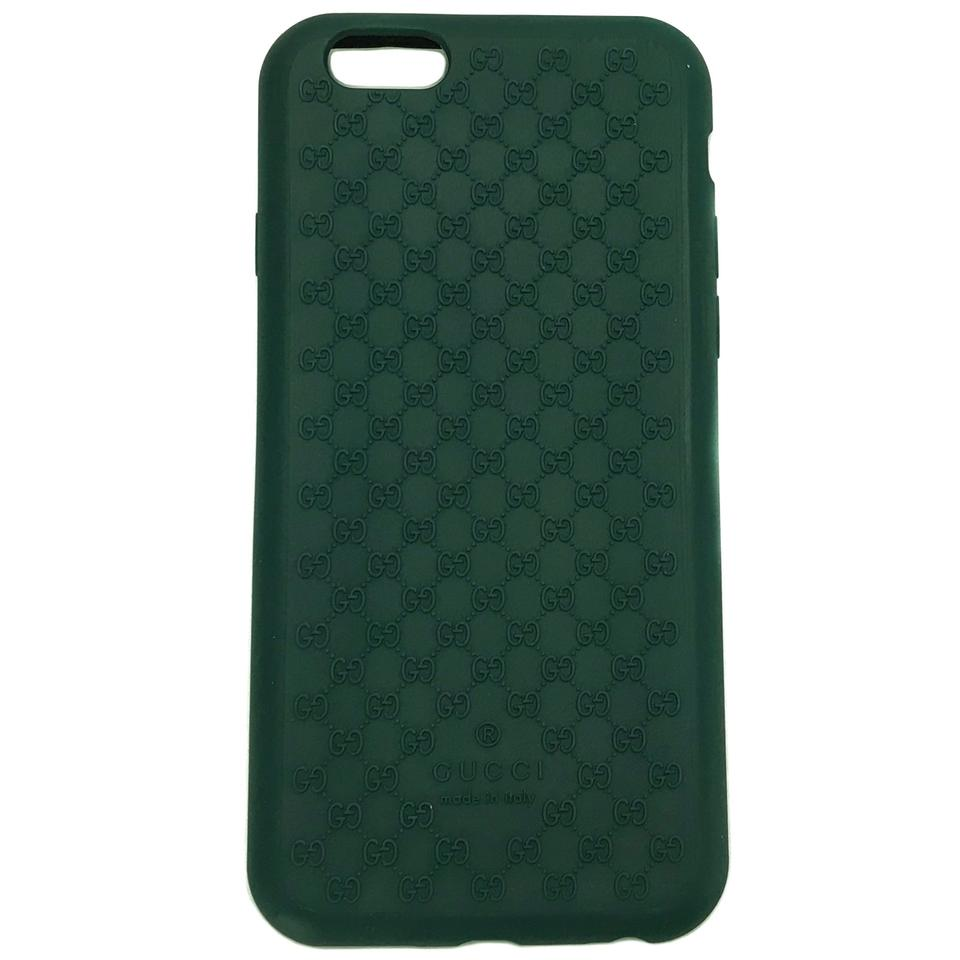finest selection 8ddb9 dfd73 Gucci Green 399029 Gg Microguccissim Iphone 6 Cover Tech Accessory 54% off  retail