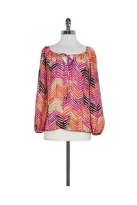 Trina Turk Color Chevron Print Top Multi