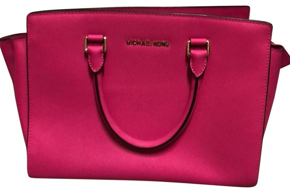 6abc363e8897d3 ... new zealand michael kors tote in hot pink 26902 72271