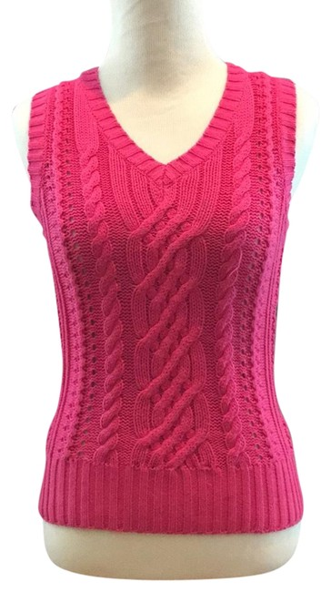 Preload https://img-static.tradesy.com/item/23051565/lilly-pulitzer-pink-cable-knit-vest-sweaterpullover-size-2-xs-0-1-650-650.jpg