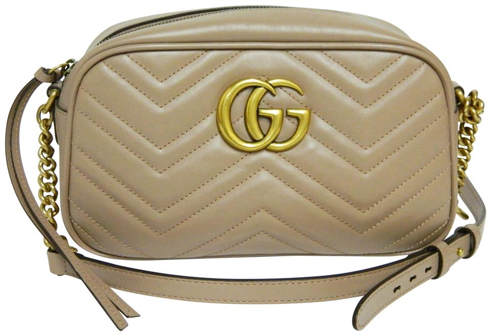 f456db32d8ce Gucci Marmont Gg Matelasse Camera Crossbody Dusty Pink Leather Shoulder Bag