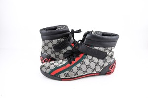 Gucci * Monogram High Top Lace Up Sneakers Shoes