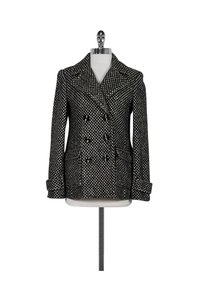 Alice + Olivia Tweed Black & White Jacket