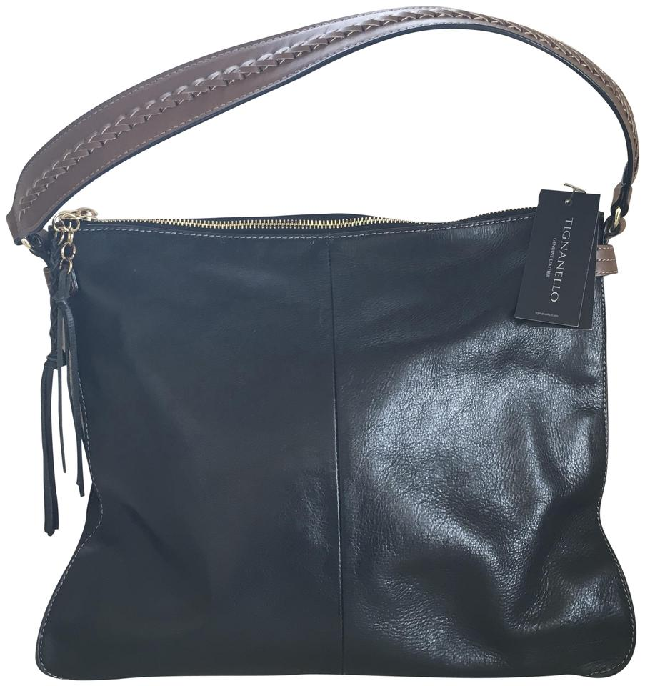 Tignanello Vintage Leather Imported Hobo Bag