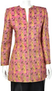 Mary McFadden Paisley Channel Quilted Tunic