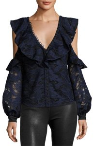 3dc5530d7bc4 self-portrait Lace New With Tags Blue Night Out Top Navy and Black