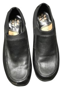 Dr. Scholl's Walking Leather Loafers Black Flats