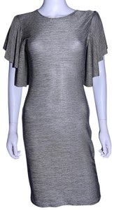Lisa Nieves short dress silver Stretchy Ruffle Pencil on Tradesy