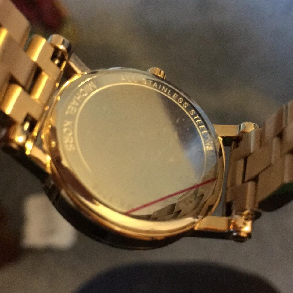 3547cb1989ee Michael Kors Pink and Gold Mk3708 Watch - Tradesy