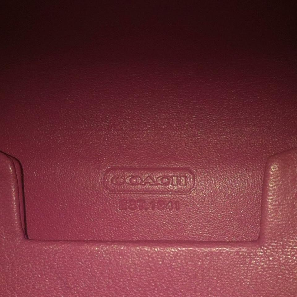 Pink Coach Business Card Case Wallet - Tradesy