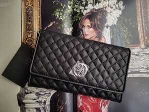 Guess Wallet Quilted Classic BLACK Clutch