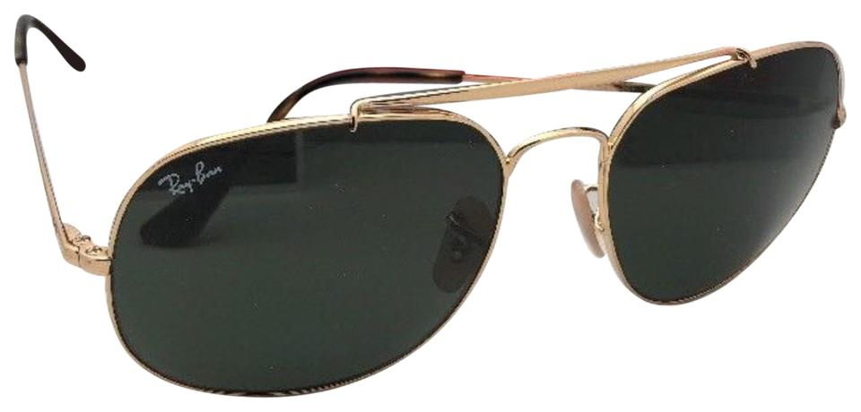 b02f256e39c5b Ray-Ban New The General Rb 3561 001 57-17 Gold Aviator W  G15 Green ...