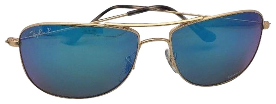 299e2eef63 Ray-Ban Polarized Rb 3543 112 A1 59-16 Gold Aviator+chromance Mirror ...