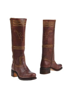 Frye Vintage Leather Knee-high Buttons Distinguish True To Size walnut Boots