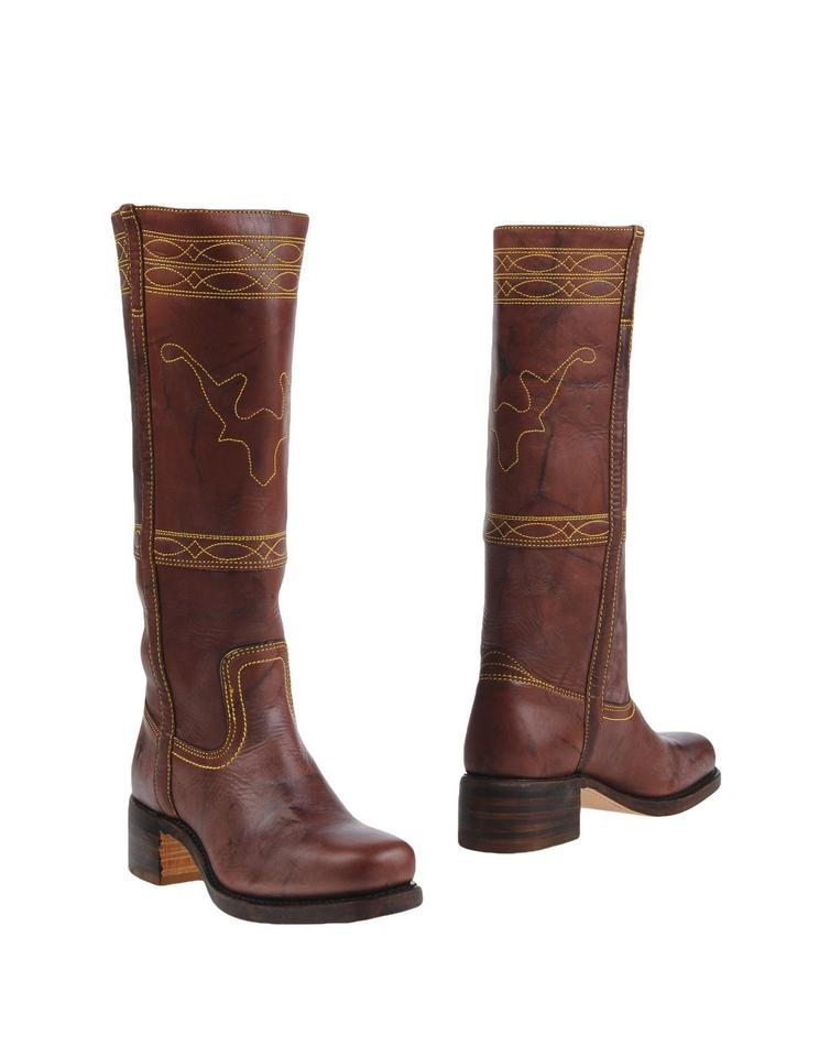 4ff9f28dbec Frye Vintage Leather Knee-high Buttons Distinguish True To Size walnut Boots  Image 0 ...