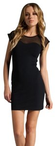 David Lerner Lbd Velvet Sheer Dress