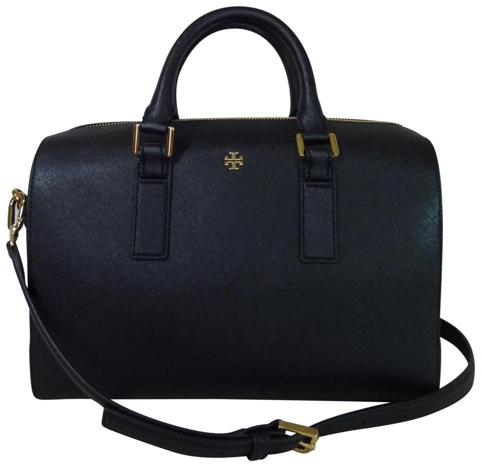 ce674128e575 Tory Burch Saffiano Leather Robinson Brown Handbag Satchel in Black Image 0  ...