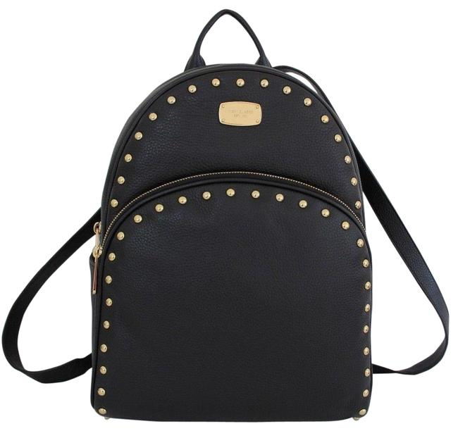 Item - Abbey Large Studded Black/Gold Leather Backpack
