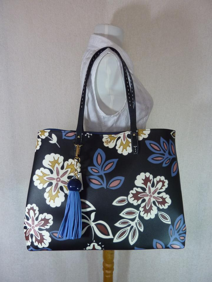 Tote Colored Case Square Kerrington Cosmetic Tory Key Multi Fob Hopewell Burch Navy Leather vUwUq7