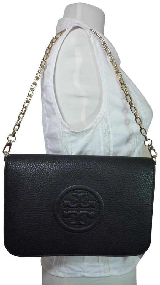 e37cf732cf8 Tory Convertible Burch Black Bombe Clutch Leather SnS0vYTqwx ...