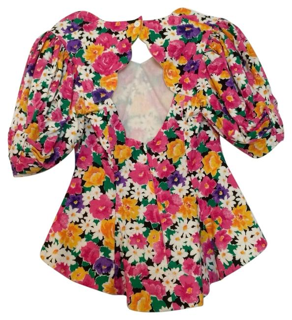 Preload https://item1.tradesy.com/images/pink-floral-open-back-blouse-size-8-m-2305270-0-0.jpg?width=400&height=650