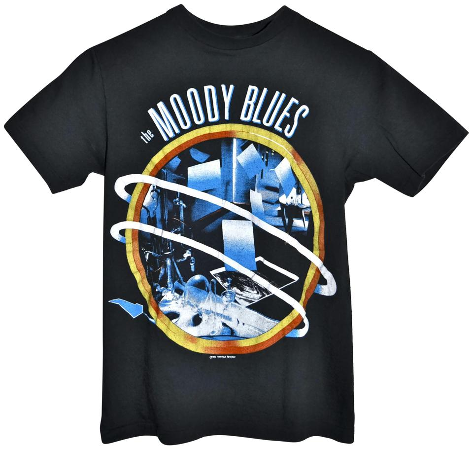 Black 80s 1986 The Moody Blues Rock Concert Tour Hanes Mens Small S Tee  Shirt Size OS (one size) 84% off retail